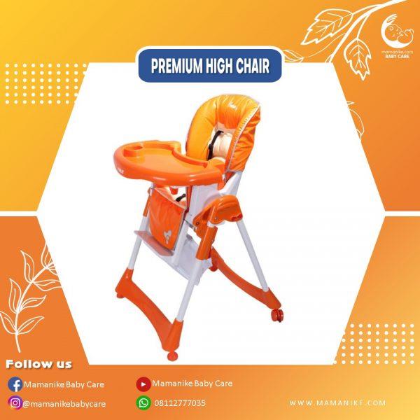 sewa high chair baby does orange